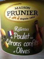 Prunier Rillettes De Poulet Aux Citrons Confits Et Olives 22 - Produit