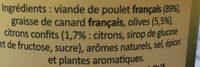 Prunier Rillettes De Poulet Aux Citrons Confits Et Olives 22 - Ingrédients