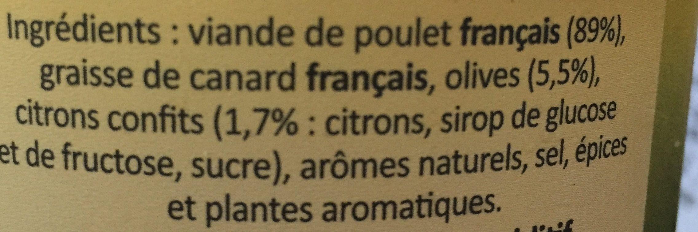 Prunier Rillettes De Poulet Aux Citrons Confits Et Olives 22 - Ingredients