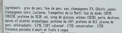 Le Forestier - Ingredients