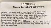Pâté le forestier en tranche - Ingrédients - fr