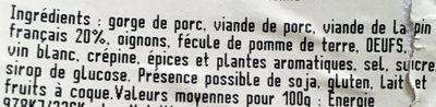 Terrine de Lapin - Recette à l'Ancienne - Ingrédients - fr
