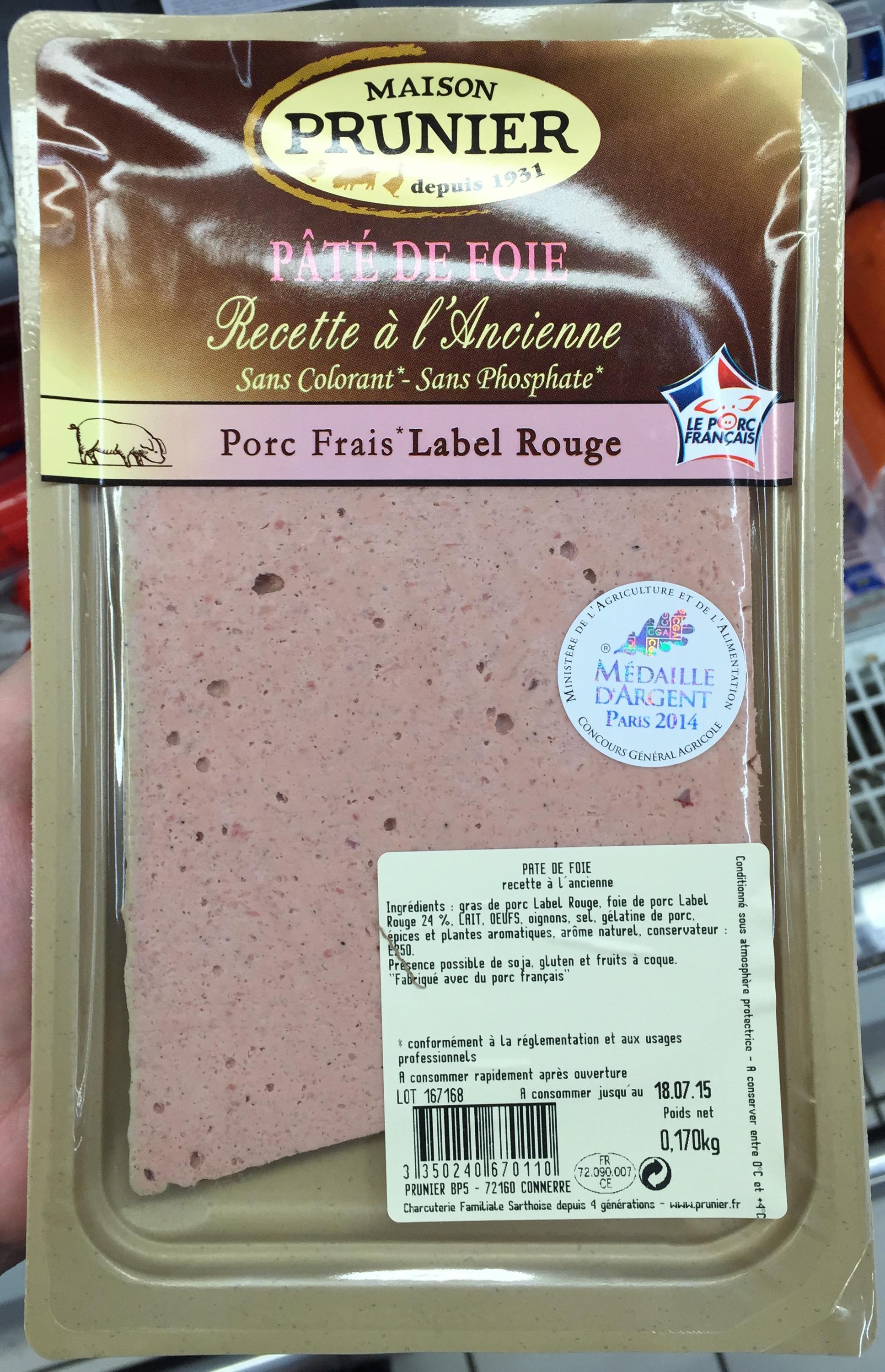 p 226 t 233 de foie recette 224 l ancienne maison prunier 170 g
