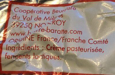 Beurre De Baratte 250g - Ingrédients