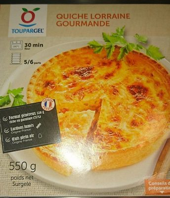 Quiche Lorraine Gourmande - Produit