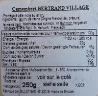 Camembert Au Lait Cru - Ingrediënten