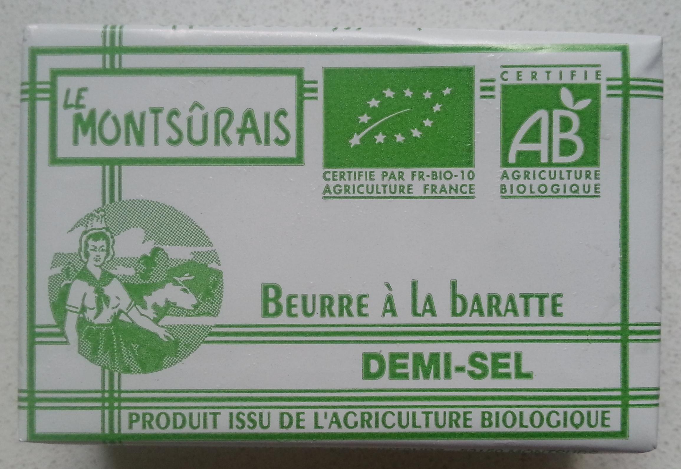 Beurre à la baratte Demi-Sel Bio (80 % MG) - Produit - fr