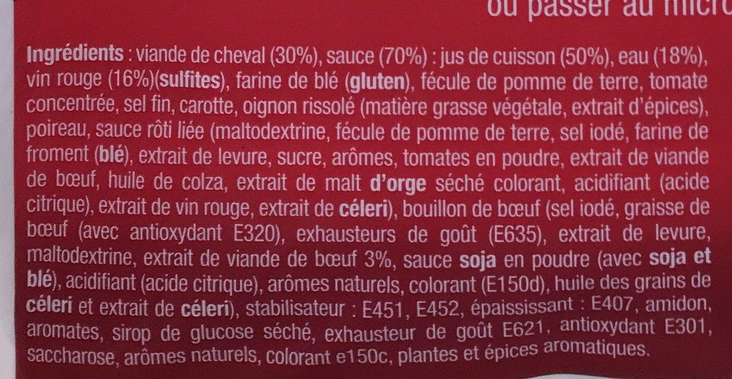 Rossbiff à l'Alsacienne - Ingrédients