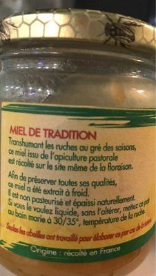 Miel - Ingrédients