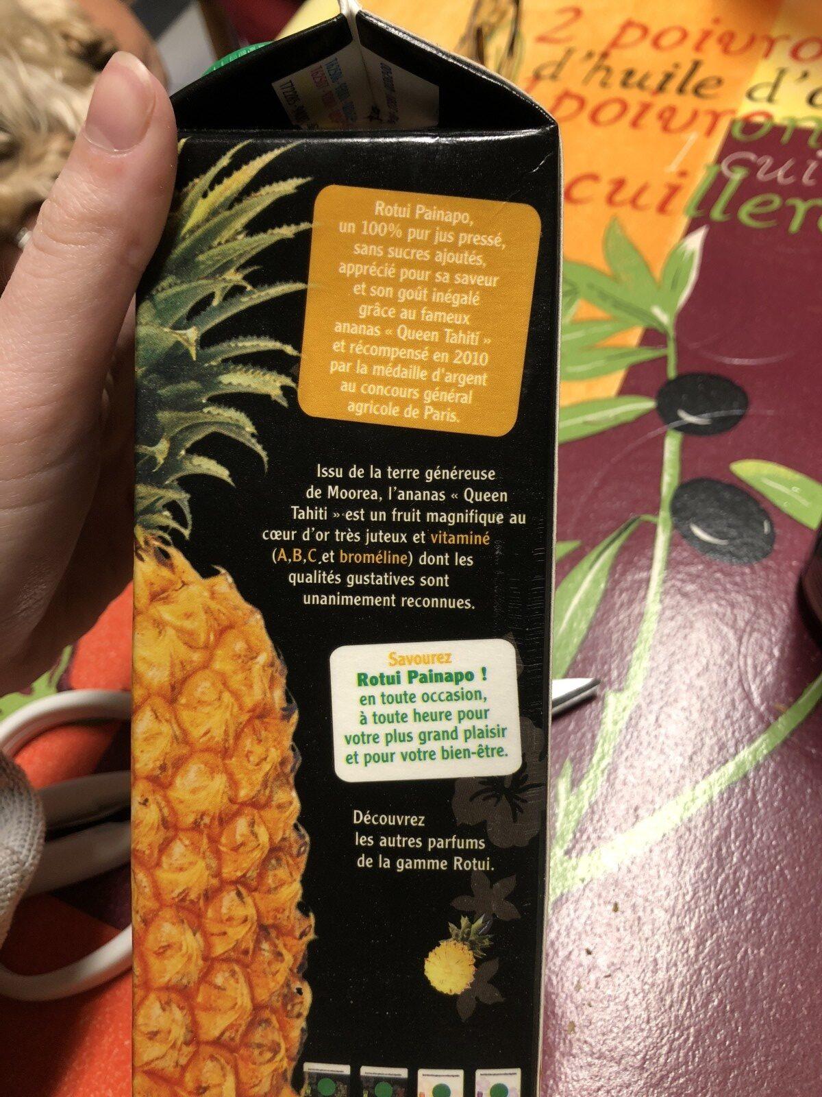Jus Ananas - Ingrédients