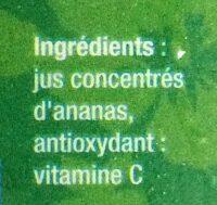 Jus ananas - Ingrediënten