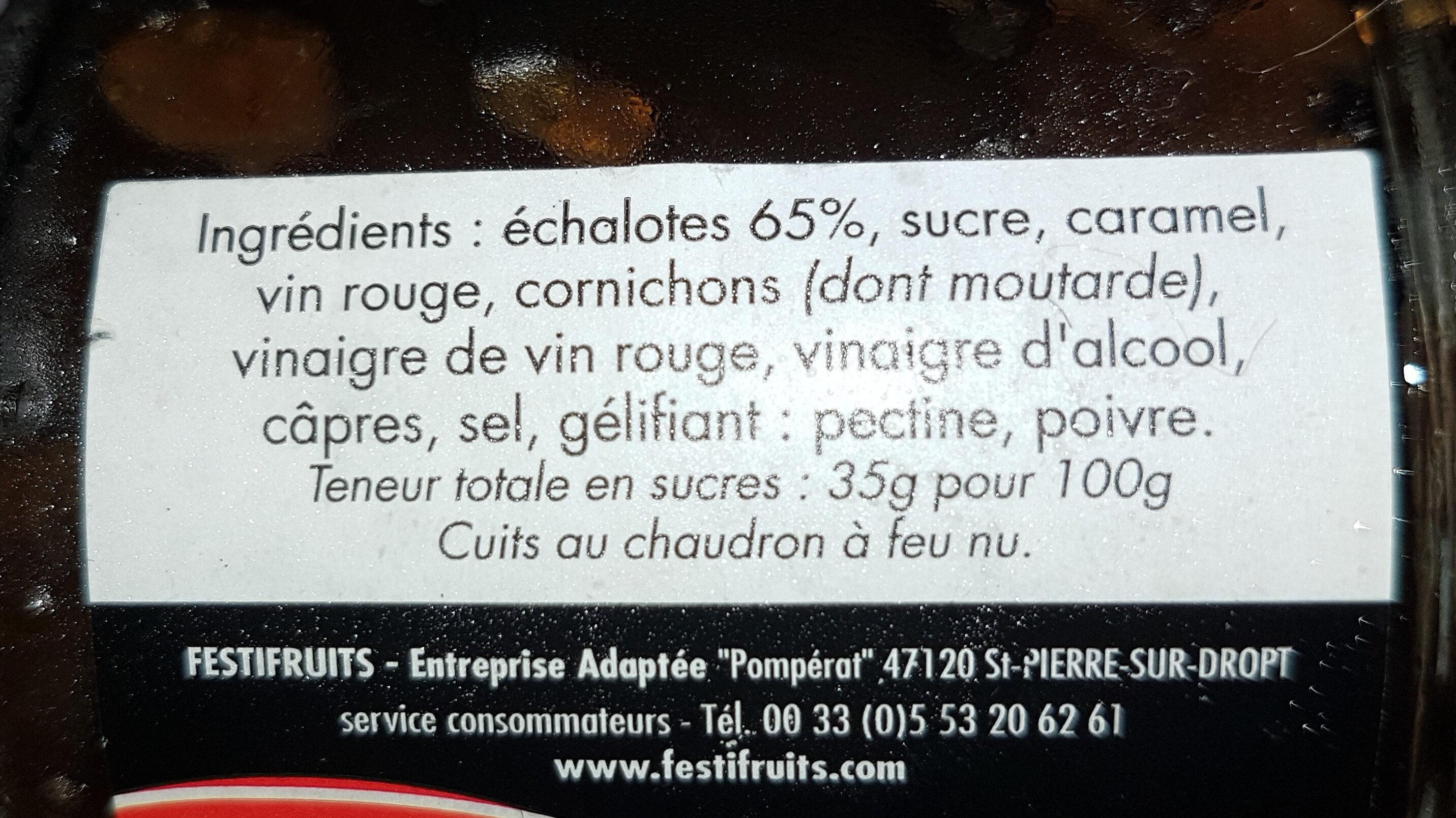 Confit d'échalotes - Ingredients