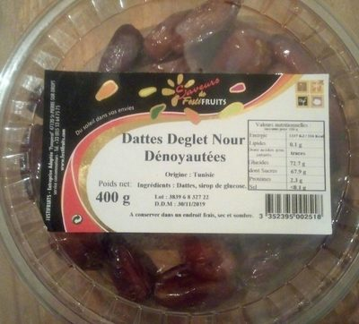 Dattes deglet nour - Product - fr