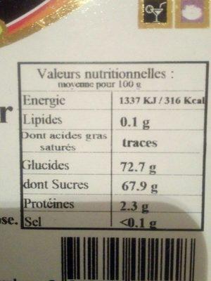 Dattes deglet nour - Ingrediënten