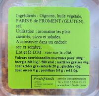 Oignons Frits - Nutrition facts - fr