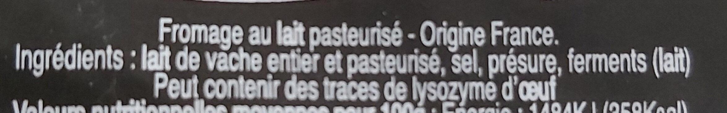 Tommette du châtelard - Ingrédients - fr