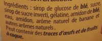 Guimauve Fantaisie Aromatisée à la banane - Ingrediënten - fr