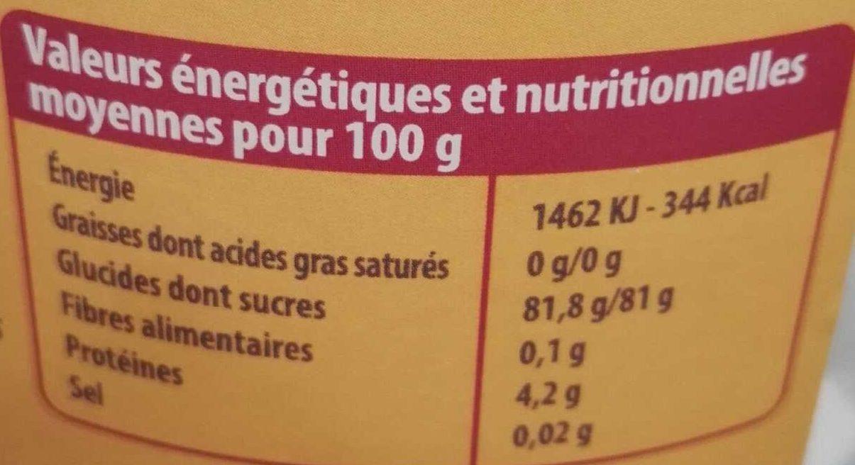Guimauve Fantaisie Aromatisée à la banane - Voedingswaarden - fr
