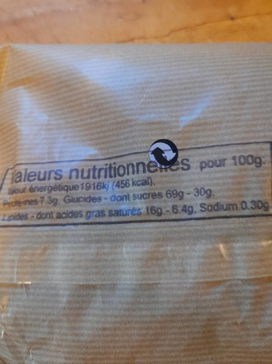 Biscuits Canistrelli a l'anis - Informations nutritionnelles - fr