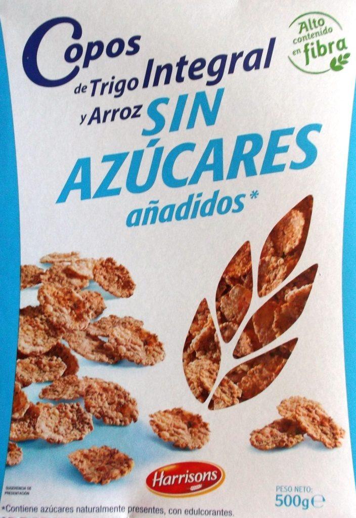 Copos De Trigo Integral Y Arroz Sin Azúcares Añadidos Harrisons 500 G