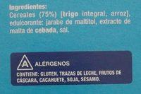 Copos de Trigo Integral y Arroz sin azúcares añadidos - Ingredients