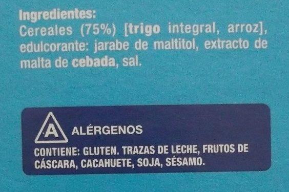 Copos de Trigo Integral y Arroz sin azúcares añadidos - Ingredientes