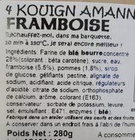 4 Kouign Amann Framboise - Produit - fr