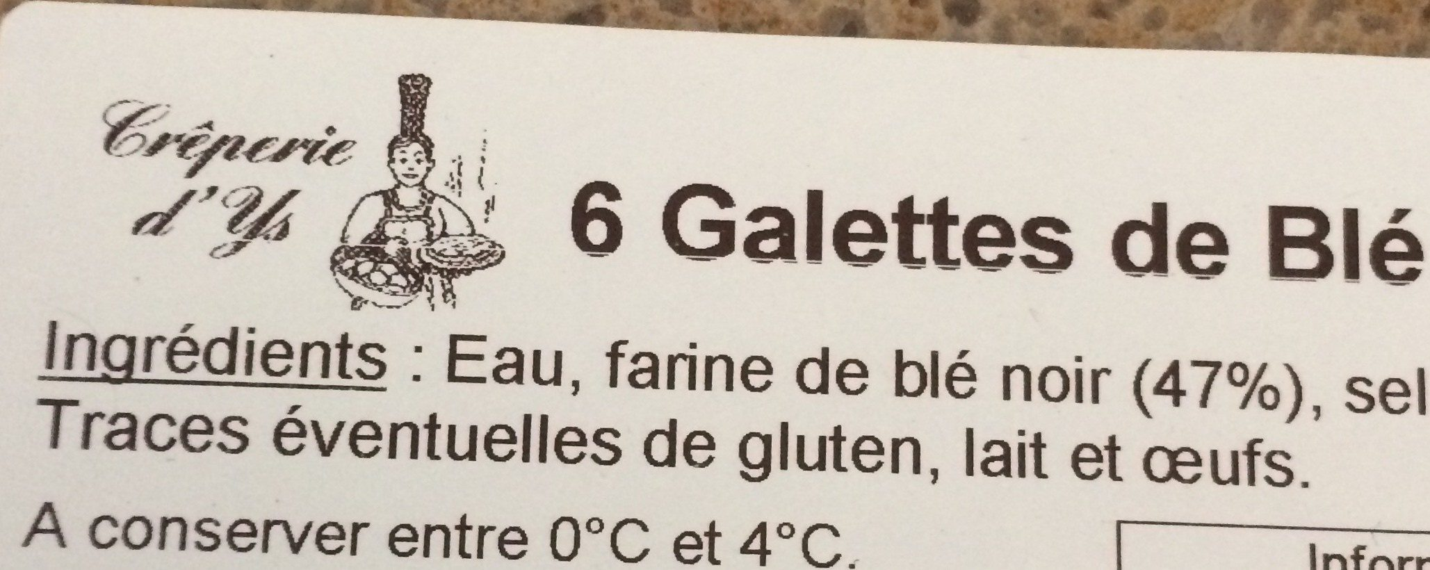 Galettes blé noir - Ingrediënten - fr