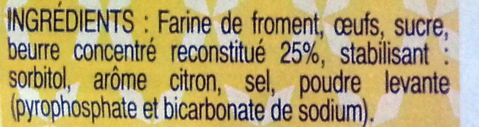 Quatre-Quarts Pur Beurre - Ingrédients - fr