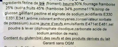 Gâteau breton fourrage framboise - Ingrédients - fr