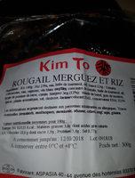 Rougail merguez et riz - Ingredients