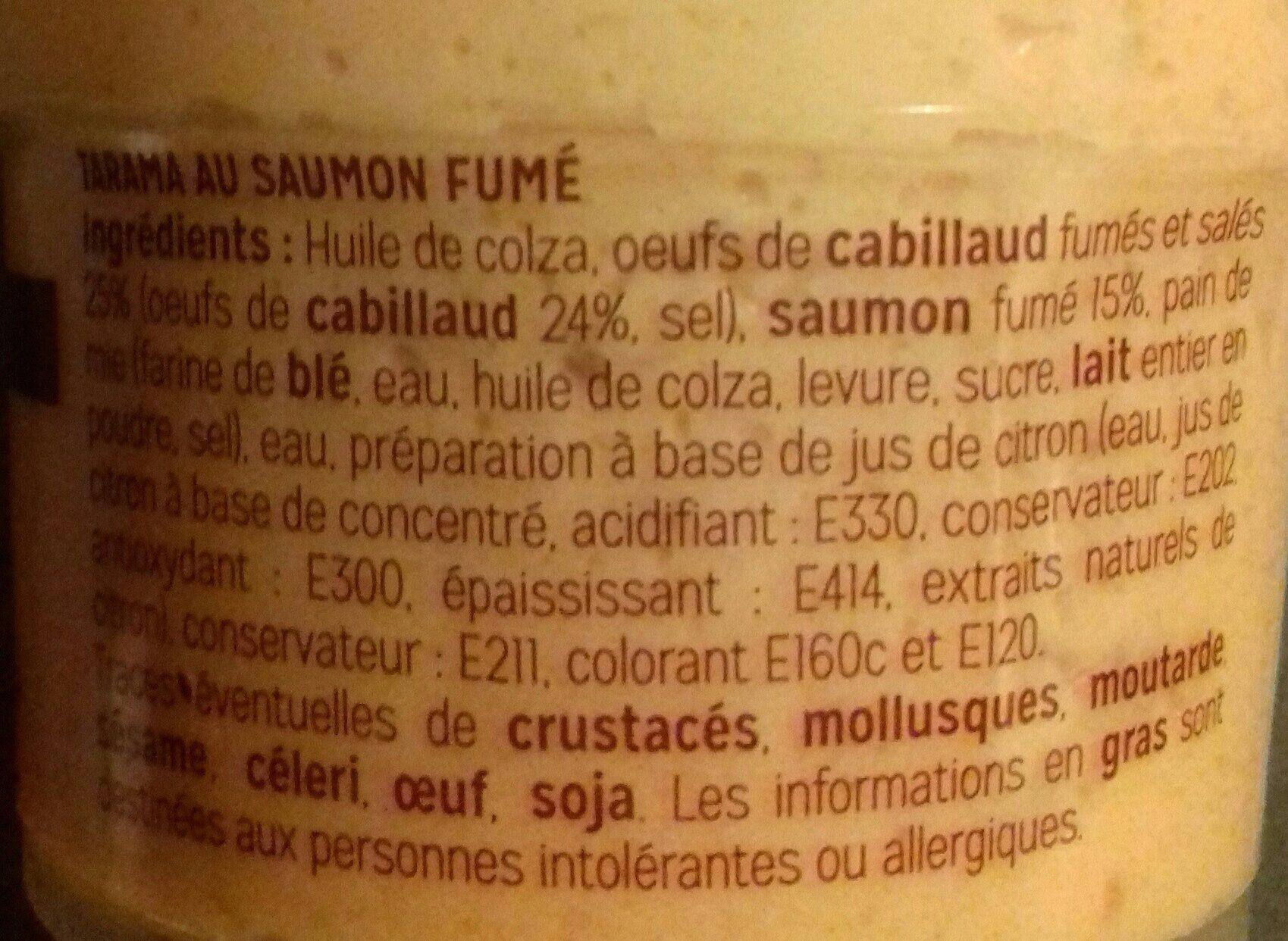 Tarama au saumon fumé - Ingredients