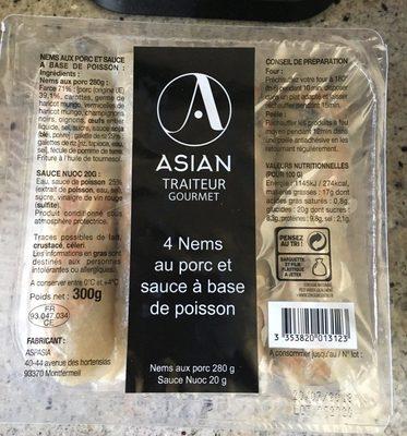 4 Nems au porc et sauce à base de poisson - Product