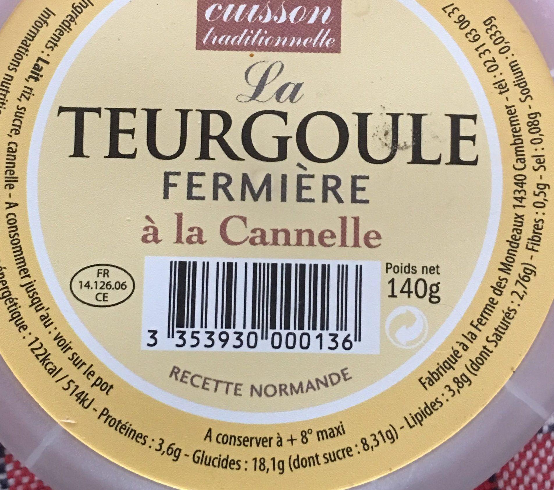 La Teurgoule fermière à la cannelle - Voedingswaarden - fr