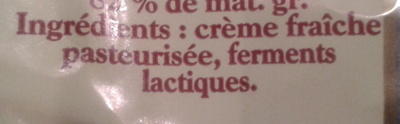 Beurre Extra-Fin Doux (82 % MG) - Ingrédients - fr
