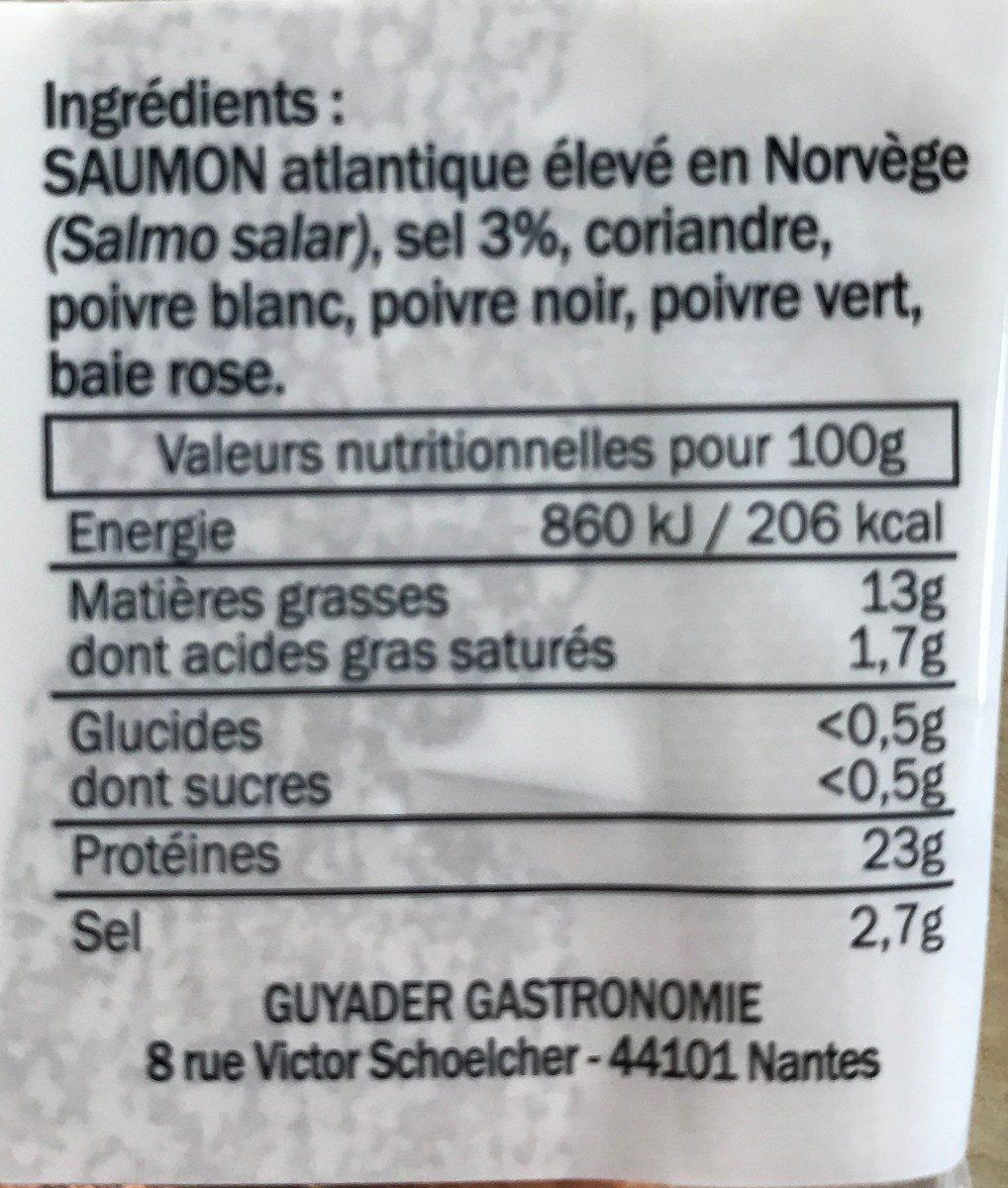 Emincés de Saumon Fumé - Ingrédients - fr