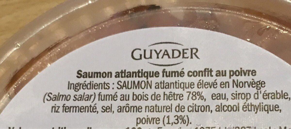 Saumon fume confit au poivre - Ingrédients - fr