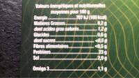 Truite fumée petites tranches - Informations nutritionnelles - fr