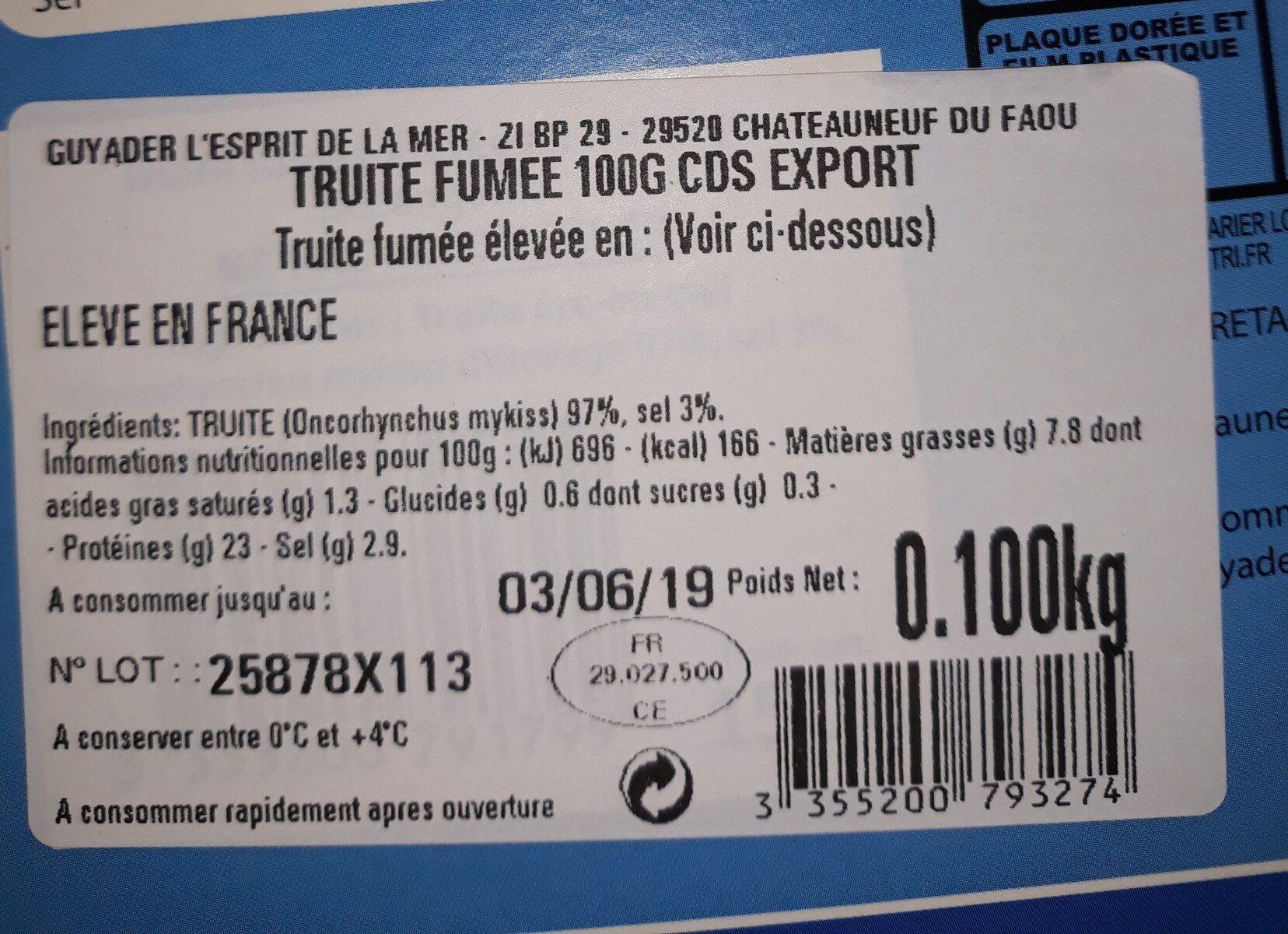 Truite fumée - Ingrédients - fr
