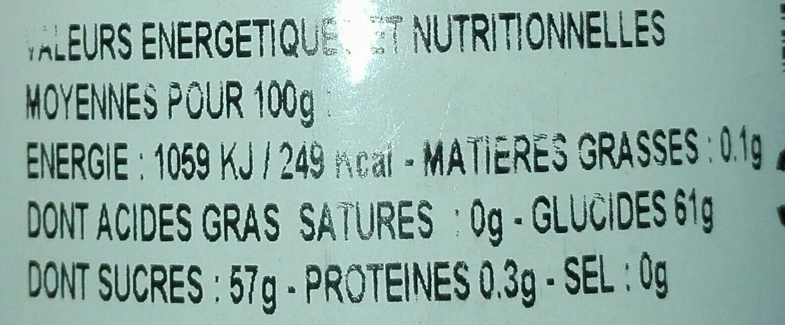 Confiture citron de menton - Nutrition facts - fr