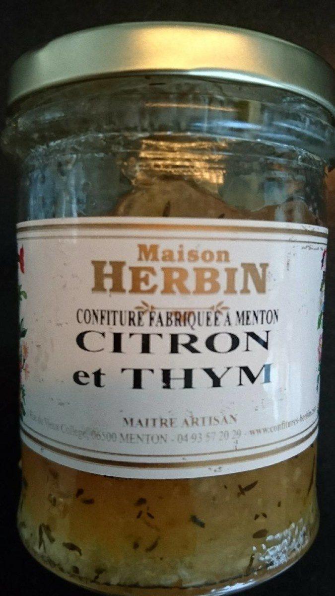 Confiture Citron et Thym - Produit - fr