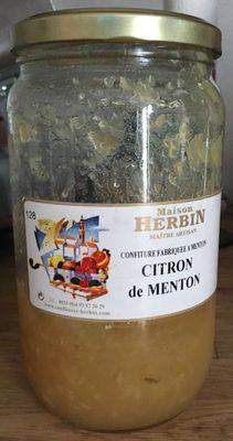 Confiture Citron de Menton - Product