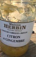 Confiture citrons et gingembre - Product