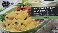 Filet de poulet a la libanaise sauce au yaourt & ses aubergines cuisinées - Produit - fr