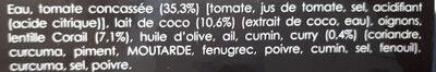 Soupe lentilles corail - Ingrédients - fr