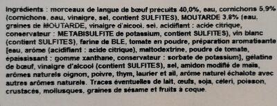 Langue de bœuf sauce piquante - Ingredients