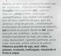 Gratin de Maroilles - Ingredients