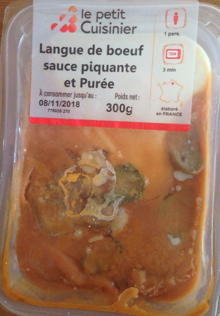 Langue de boeuf sauce piquante et purée - Product - fr