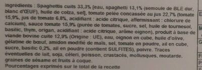 Spaghetti bolognaise - Ingredients