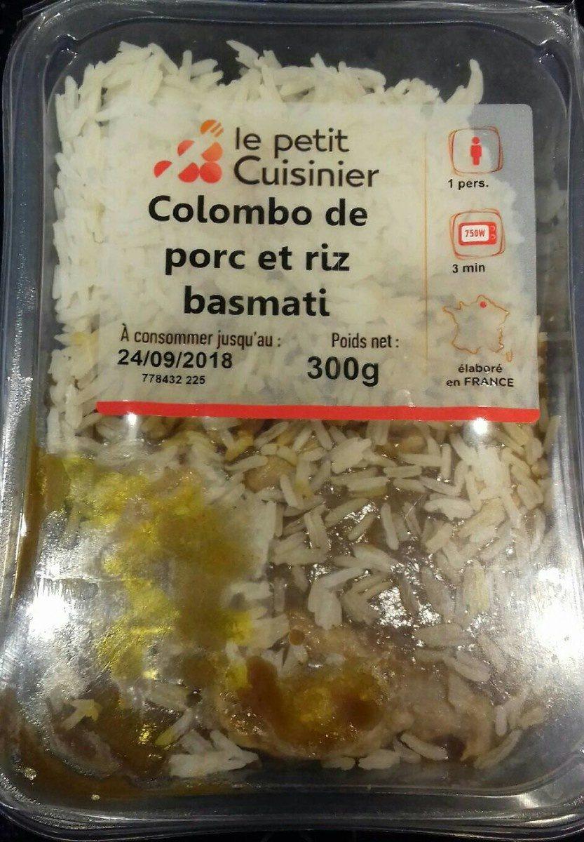 Colombo de porc et riz basmati - Produit - fr